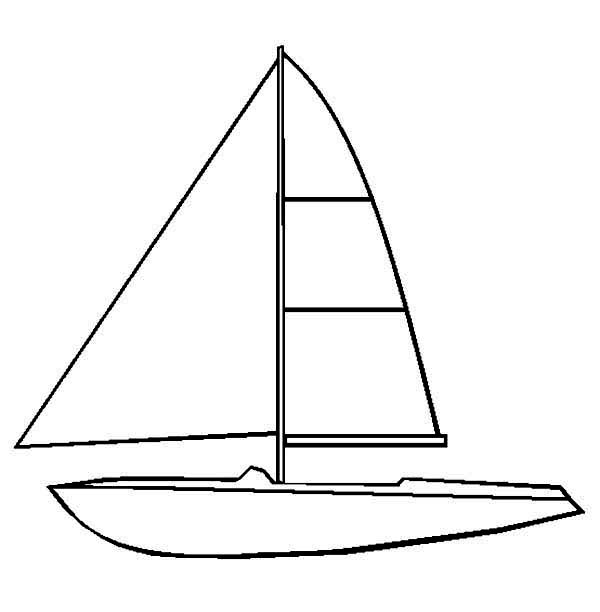 Boat, : How to Draw Sail Boat Coloring Page
