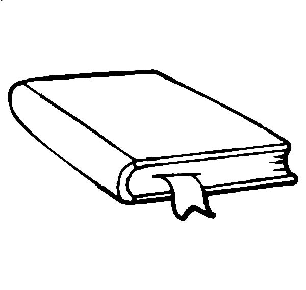 Books, : How to Draw a Book Coloring Page