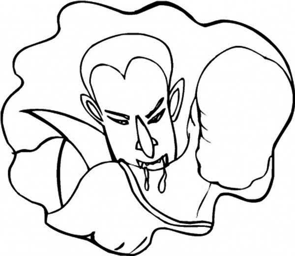 Vampire, : Hungry Vampires Coloring Page