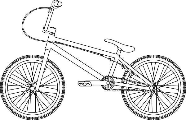Bicycle, : Hybrid Bicycle Coloring Page