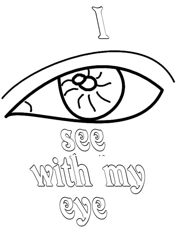 Eyes, : I See with My Eyes Coloring Page