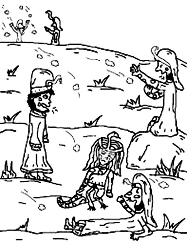 10 Plagues of Egypt, : It Shall Become Small Dust in All the Land of Egypt in 10 Plagues of Egypt Coloring Page