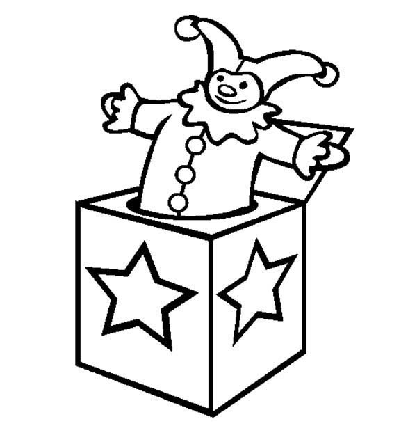 Box, : Jack in the Box Coloring Page