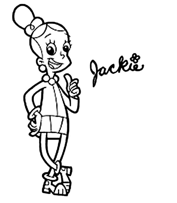 Cyberchase, : Jackie is Confident in Cyberchase Coloring Page