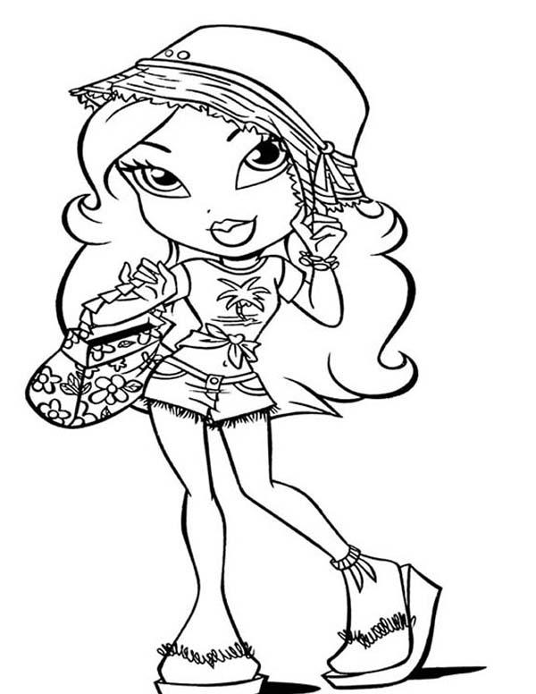 Bratz, : Jade Bratz Going to Picnic Coloring Page