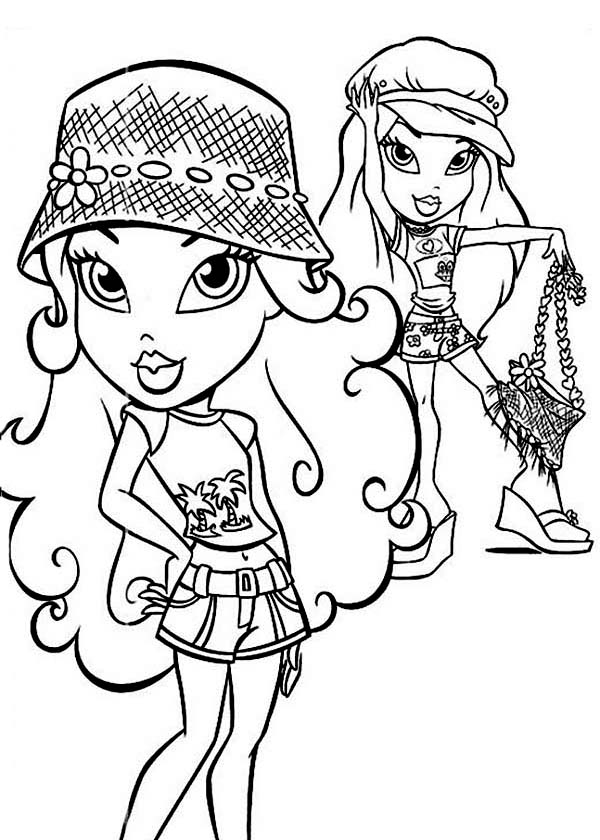 Bratz, : Jade and Cloe from Bratz Coloring Page