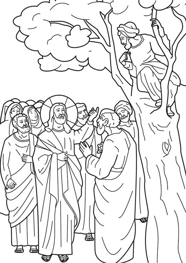 Disciples, : Jesus Ask His Disciples to Come Down Coloring Page
