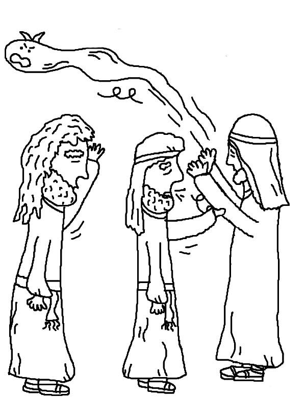 Disciples, : Jesus Take Away Bad Spirit of His Disciples Coloring Page