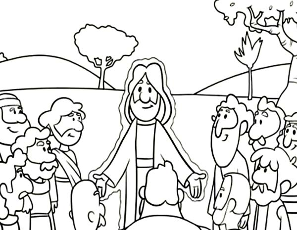 Jesus teach his twelve disciples coloring page jesus for 12 disciples coloring page