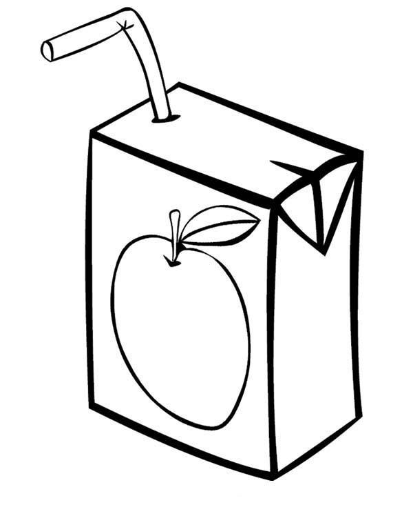Box, : Juice Box Coloring Page