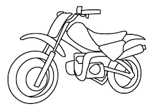 Dirt Bike, : Kids Drawing Dirt Bike Coloring Page
