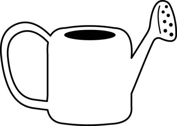 Watering Can, : Kids Drawing of Watering Can Coloring Page