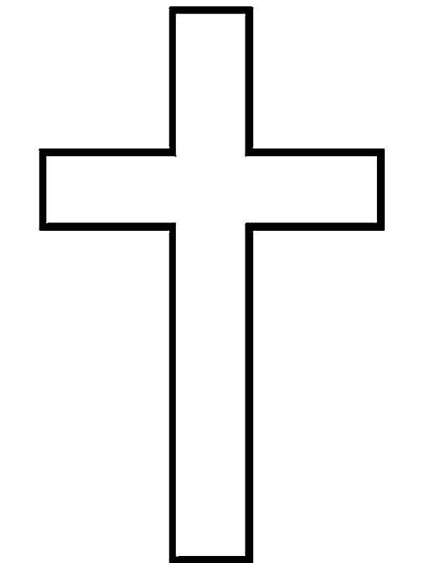 Cross, : Latin Cross Coloring Page