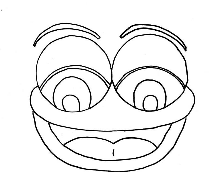 Face, : Laughing Type of Face Coloring Page
