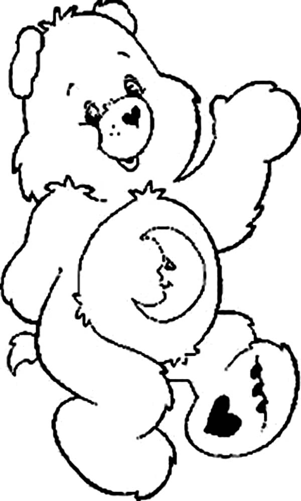 Care Bear, : Lets Sleep Say Bedtime Bear in Care Bear Coloring Page