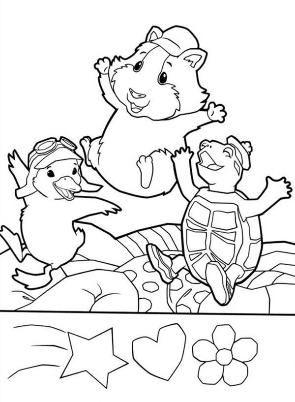The Wonder Pets, : Linny Ming Ming and Turtle Tuck is Happy with Their New Bed in Wonder Pets Coloring Page