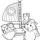 Ming Ming The Duckling Learn To Fly In Wonder Pets Coloring Page