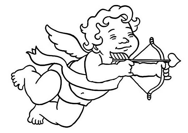 Cupid, : Little Cubby Boy Cupid Coloring Page