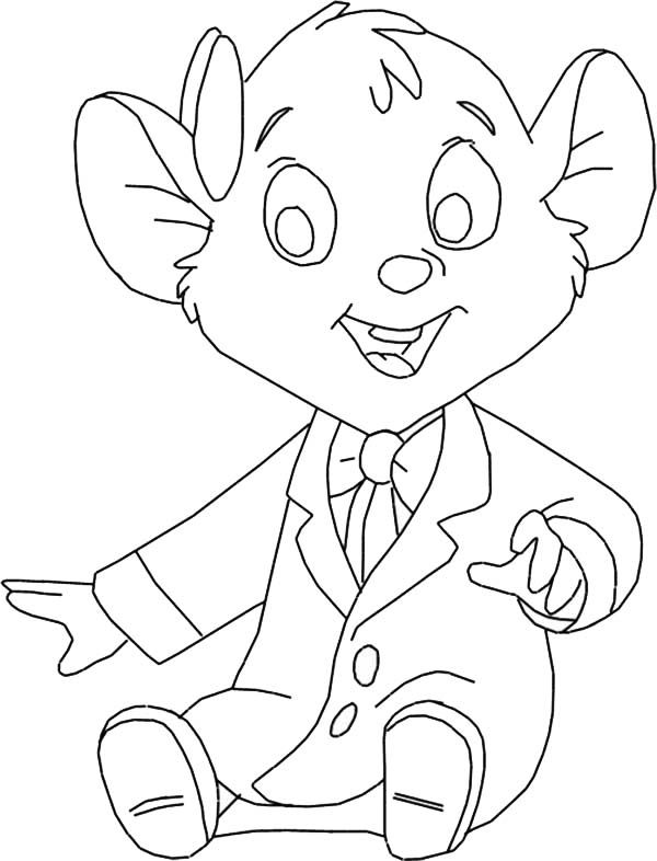 The Great Mouse Detective, : Little Olivia Flaversham from the Great Mouse Detective Coloring Page
