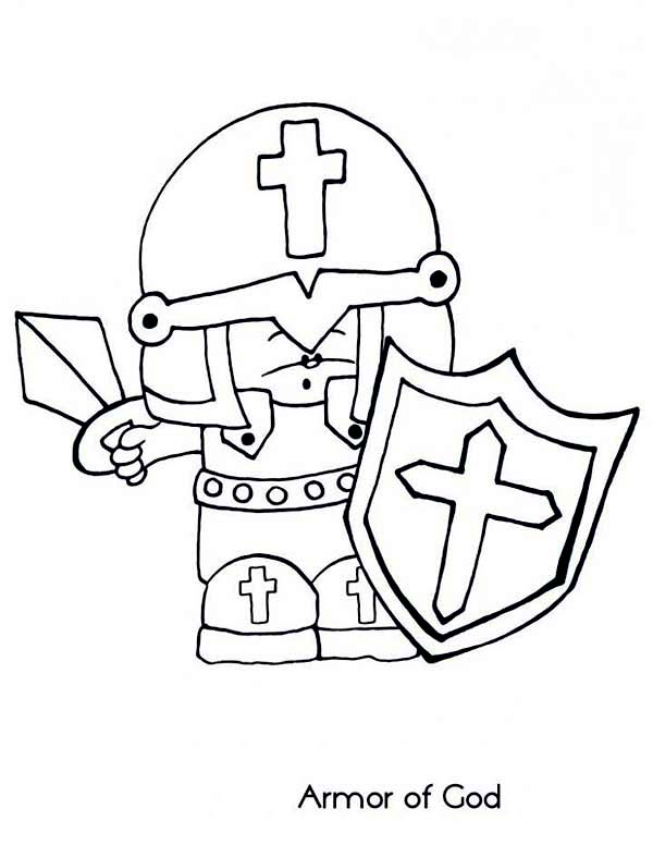 Armor of God, : Little Soldier Fight for Armor of God Coloring Page