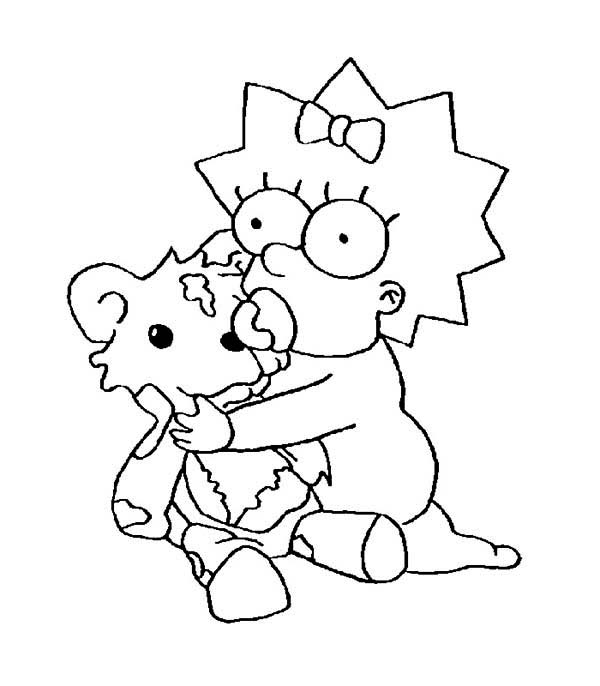 The Simpsons, : Maggie Simpson from the Simpsons Coloring Page