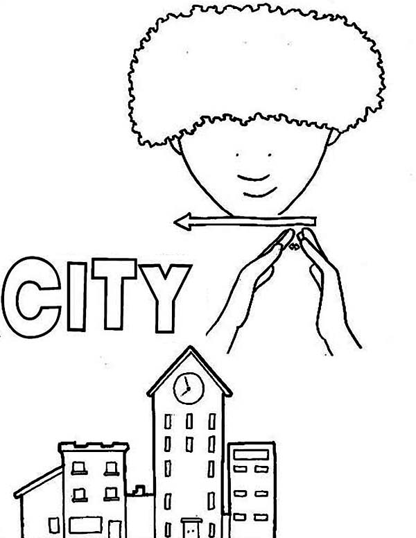 City, : Make a City with Lego Coloring Page