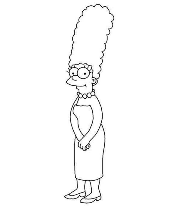 The Simpsons, : Marge Simpson from the Simpsons Coloring Page