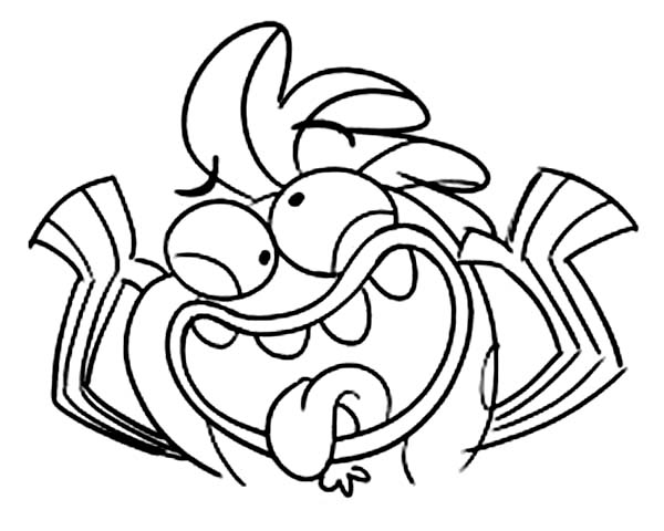 Fish Hooks, : Milo Silly Face in Fish Hooks Coloring Page