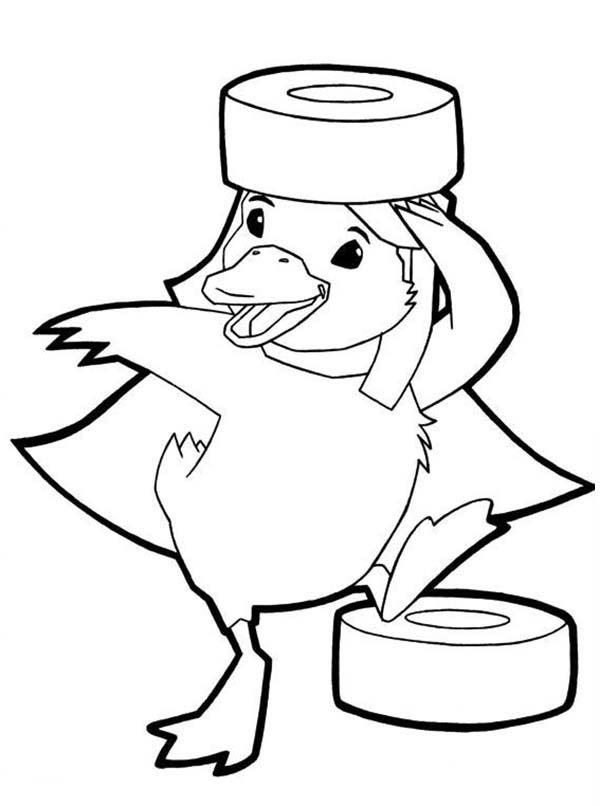 The Wonder Pets, : Ming Ming Duckling Playing with Duck Tape in Wonder Pets Coloring Page