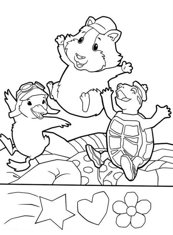 The Wonder Pets, : Ming Ming Turtle Tuck and Linny Jump Around in Wonder Pets Coloring Page