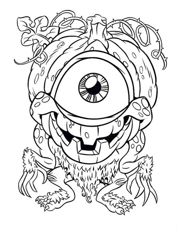 Eyes, : Monster Eyes Coloring Page