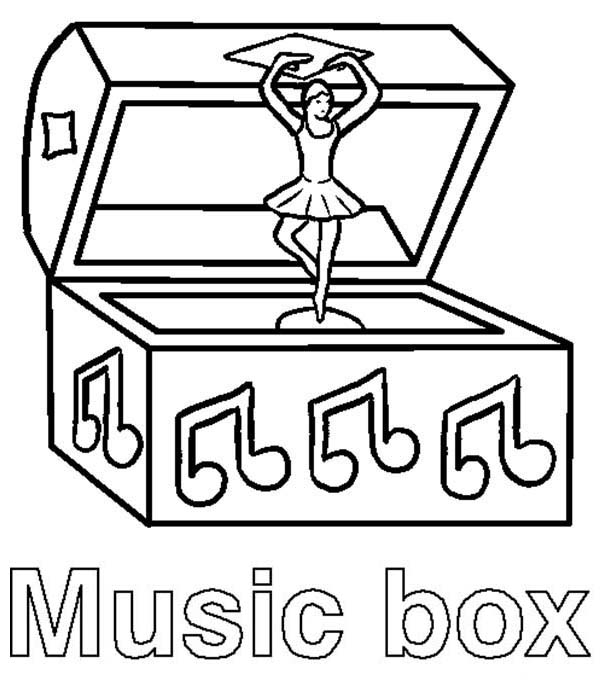 Box, : Music Box Coloring Page
