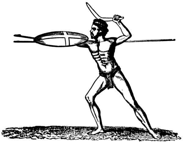 Boomerang, : Native Throwing Boomerang Coloring Page