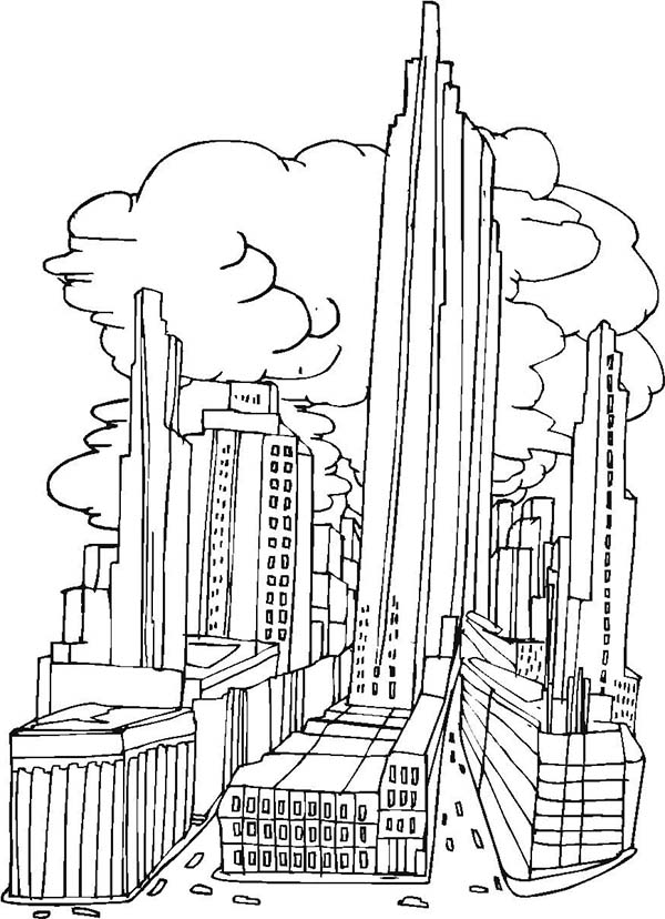 City, : New York City Picture Coloring Page