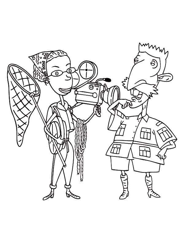 Thornberrys, : Nigel and Marianne Thornberry Want to Make Wildlife Film in The Thornberrys Coloring Page
