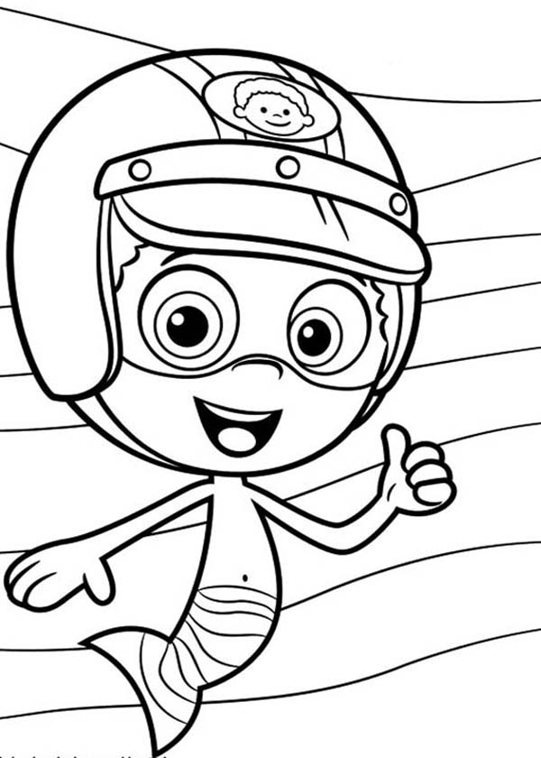 Nonny The Racer In Bubble Guppies Coloring Page : Coloring Sun