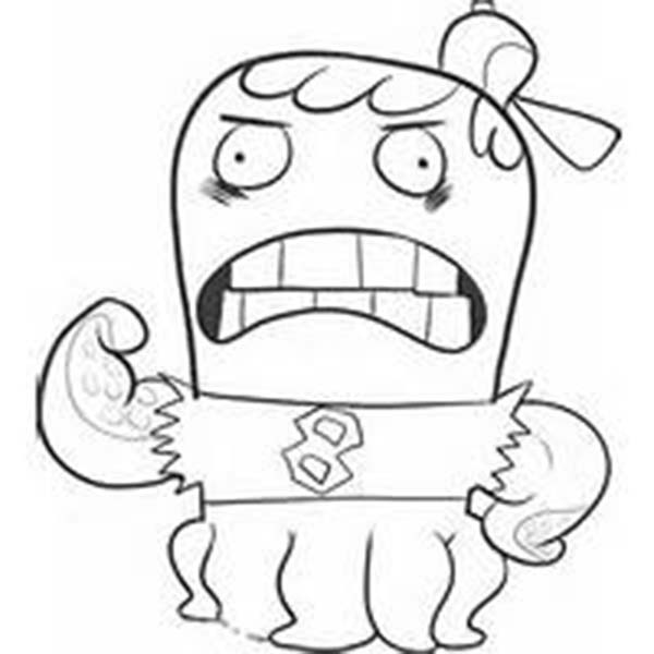Fish Hooks, : Octopus School Bully Jocktopus from Fish Hooks Coloring Page