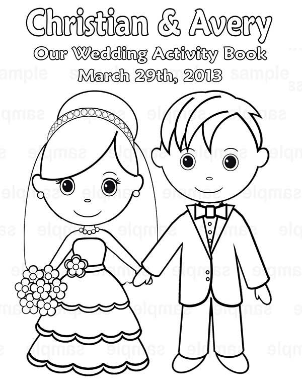 Wedding, : Our Wedding Day Coloring Page