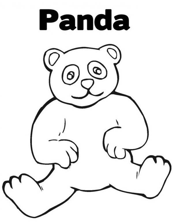 Panda, : Panda Coloring Page for Kids