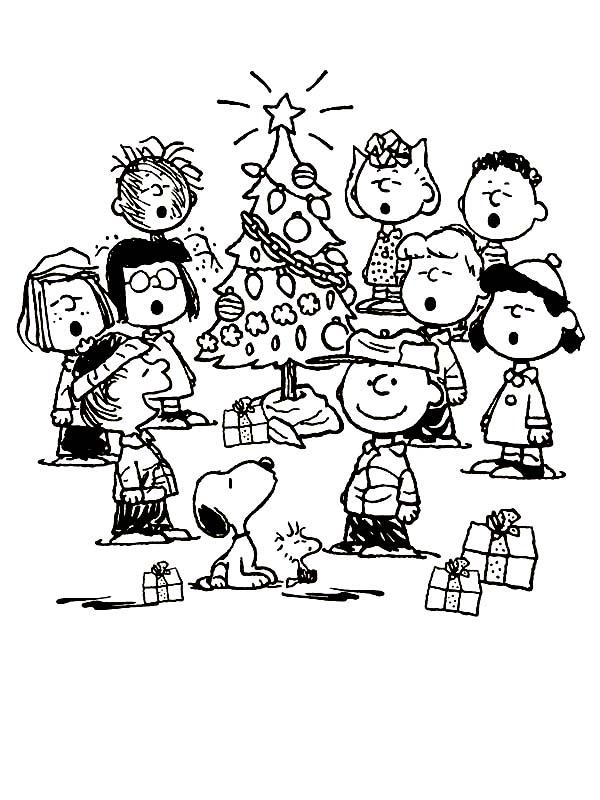 Charlie Brown, : Peanuts Charlie Brown Christmas Coloring Page