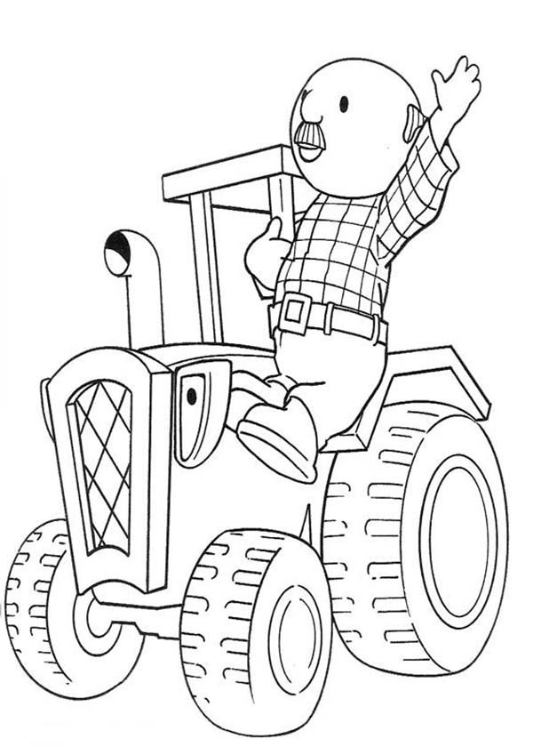 Bob the Builder, : Percy and Travis from Bob the Builder Coloring Page