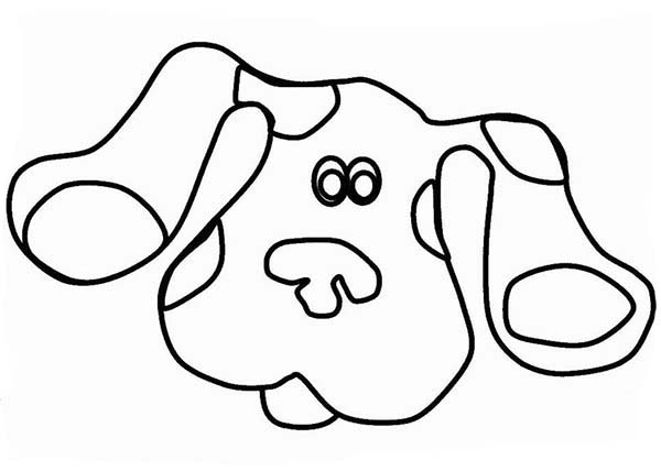 Blues Clues, : Picture of Blues Clues Head Coloring Page