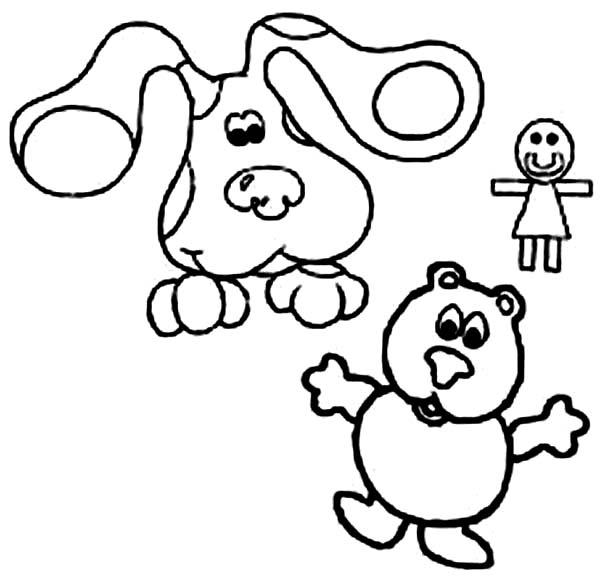 Blues Clues, : Picture of Blues Clues and Friends Coloring Page