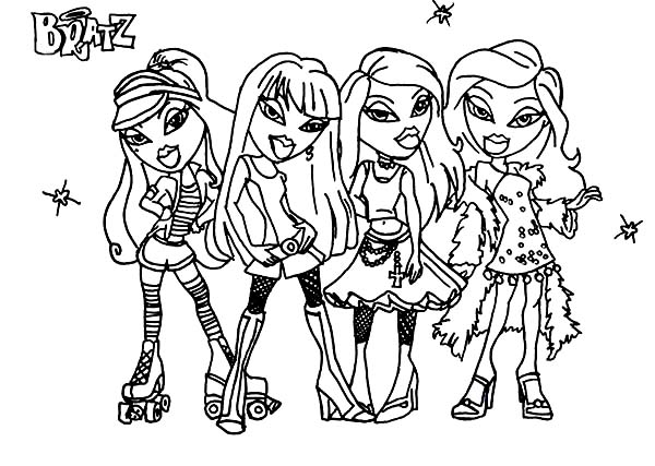 Bratz, : Picture of Bratz Coloring Page