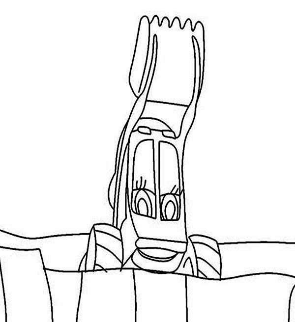 Bulldozer, : Picture of Bulldozer Coloring Page