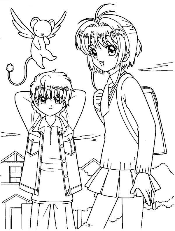 Cardcaptor Sakura, : Picture of Cardcaptor Sakura Coloring Page