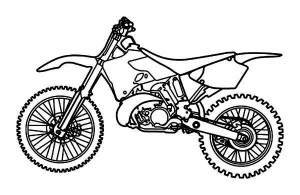 Dirt Bike, : Picture of Dirt Bike Coloring Page