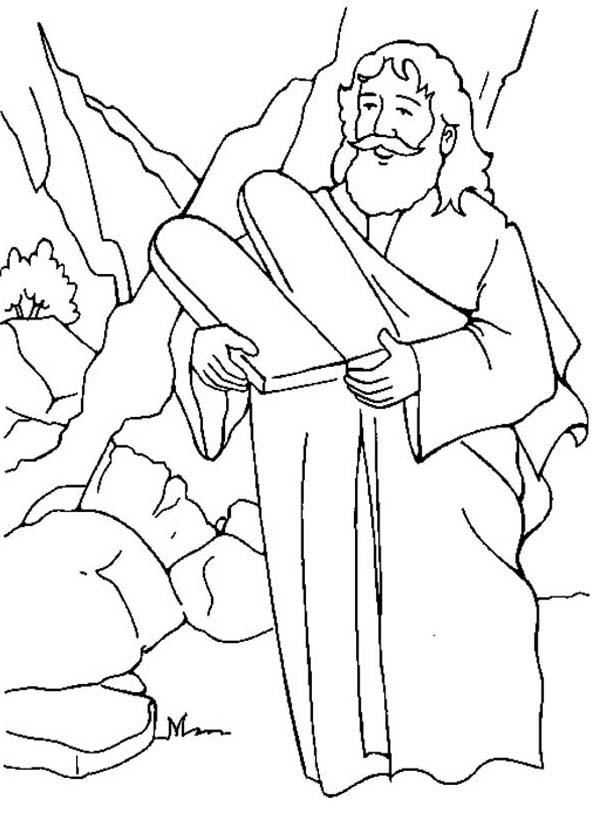 Ten Commandments, : Picture of Ten Commandments Coloring Page