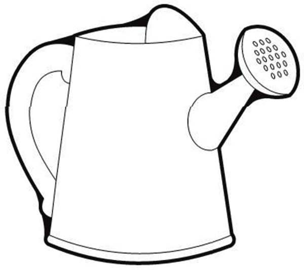 Watering Can, : Picture of Watering Can Coloring Page