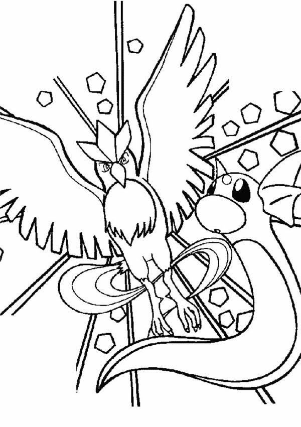 Articuno, : Pokemon Articuno Cold Attack Coloring Page
